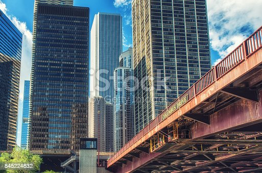 istock Columbus drive bridge, Chicago 845224832