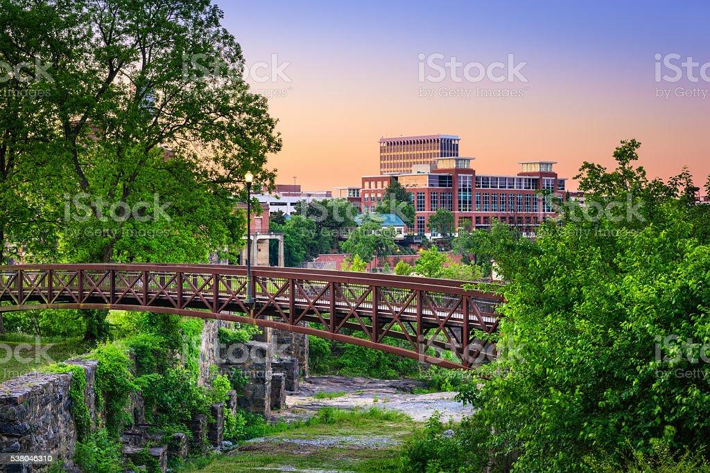 Columbus Georgia Park and Skyline stock photo