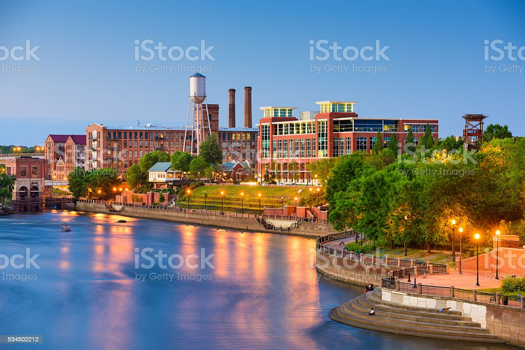 Columbus Georgia Skyline stock photo