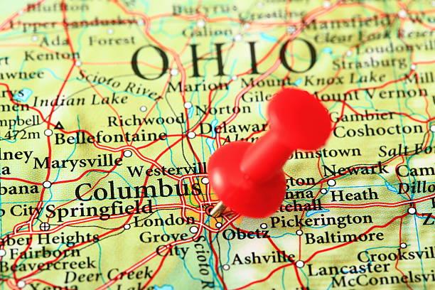 Karte von Columbus, Ohio, USA – Foto