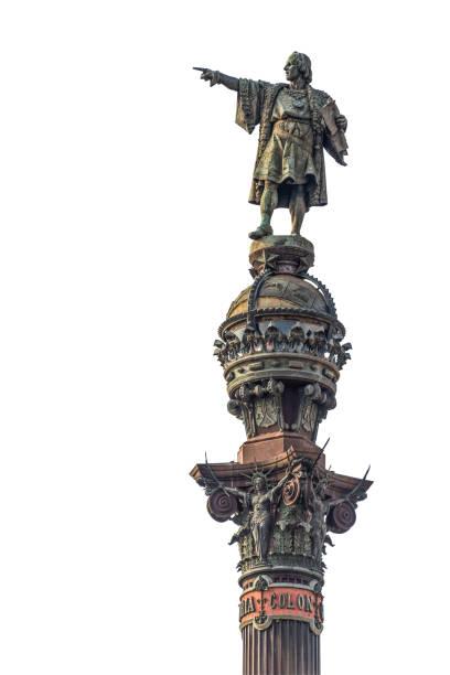pomnik columbus, barcelona - columbus day zdjęcia i obrazy z banku zdjęć