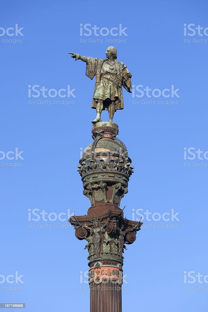 Columbus Monument, Barcelona, Spanien – Foto