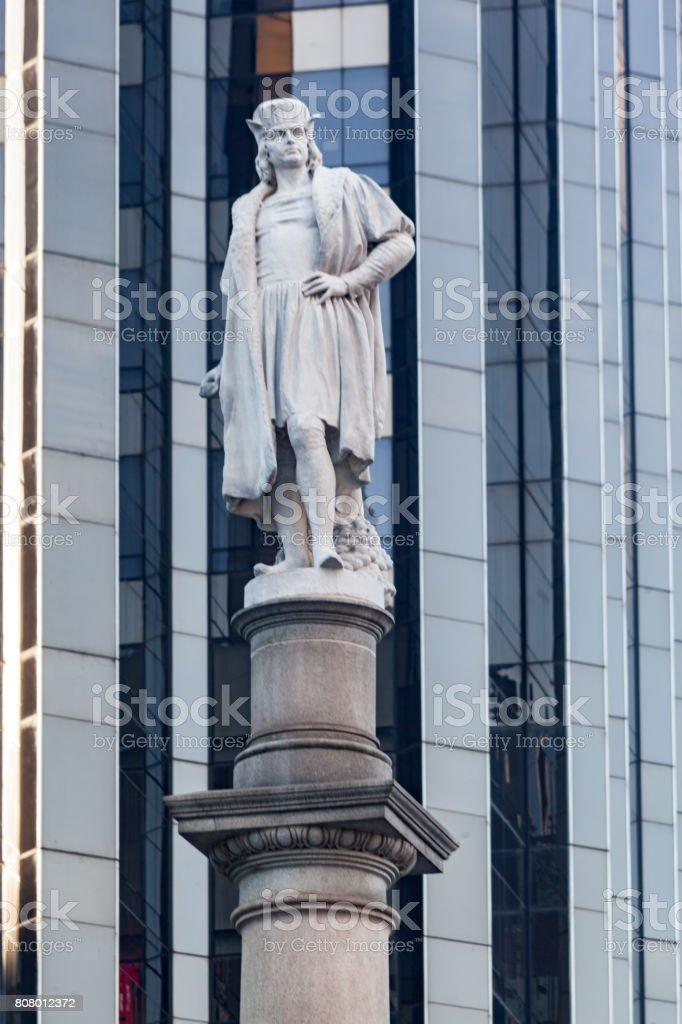 Columbus Monument Manhattan New York City stock photo