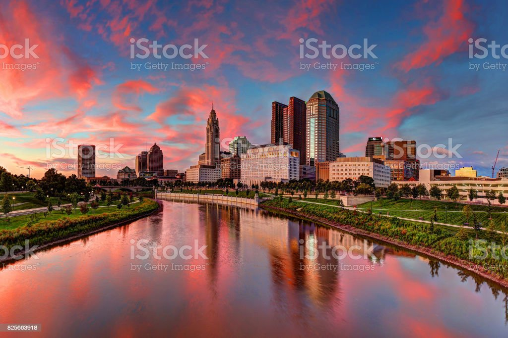 Columbus, Ohio cityscape stock photo