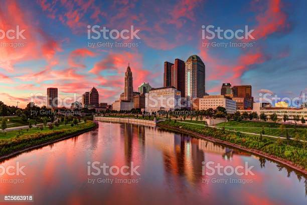 Columbus Ohio Cityscape Stock Photo - Download Image Now