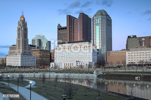 1024248138istockphoto Columbus, Ohio downtown at dusk 513755398