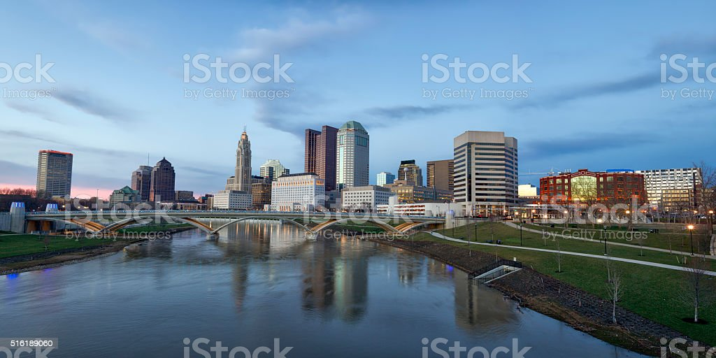 Columbus, Ohio panorama stock photo