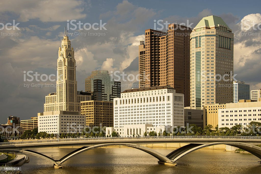 Columbus Ohio skyline in the afternoon Columbus Ohio skyline photographed in the afternoon with storm clouds. Columbus - Ohio Stock Photo