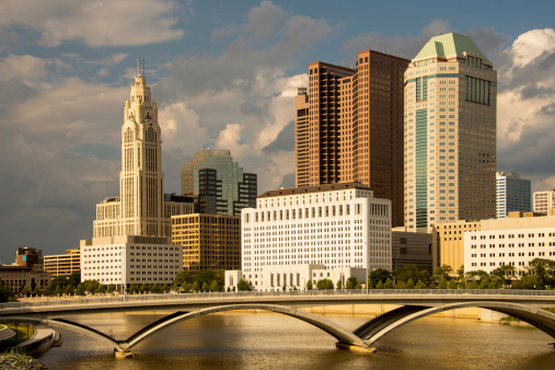 Columbus Ohio Skyline In The Afternoon Stock Photo - Download Image Now