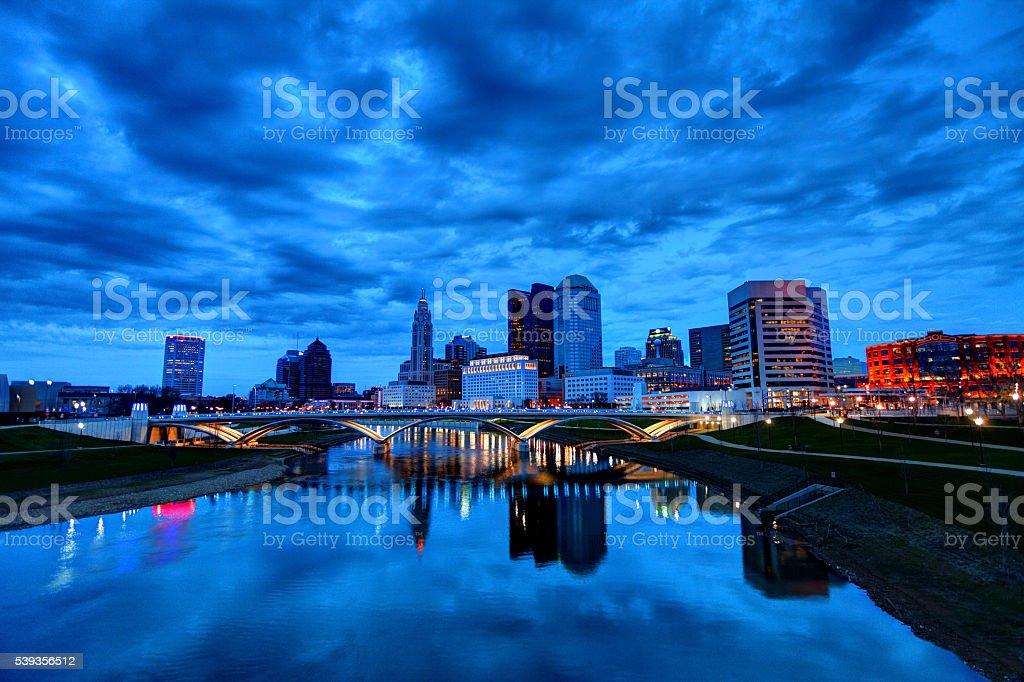 Columbus Ohio Skyline stock photo