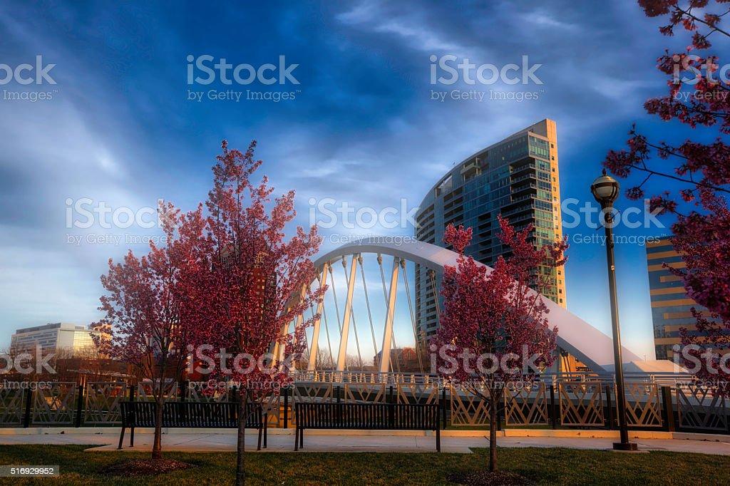 Columbus,  Ohio springtime stock photo