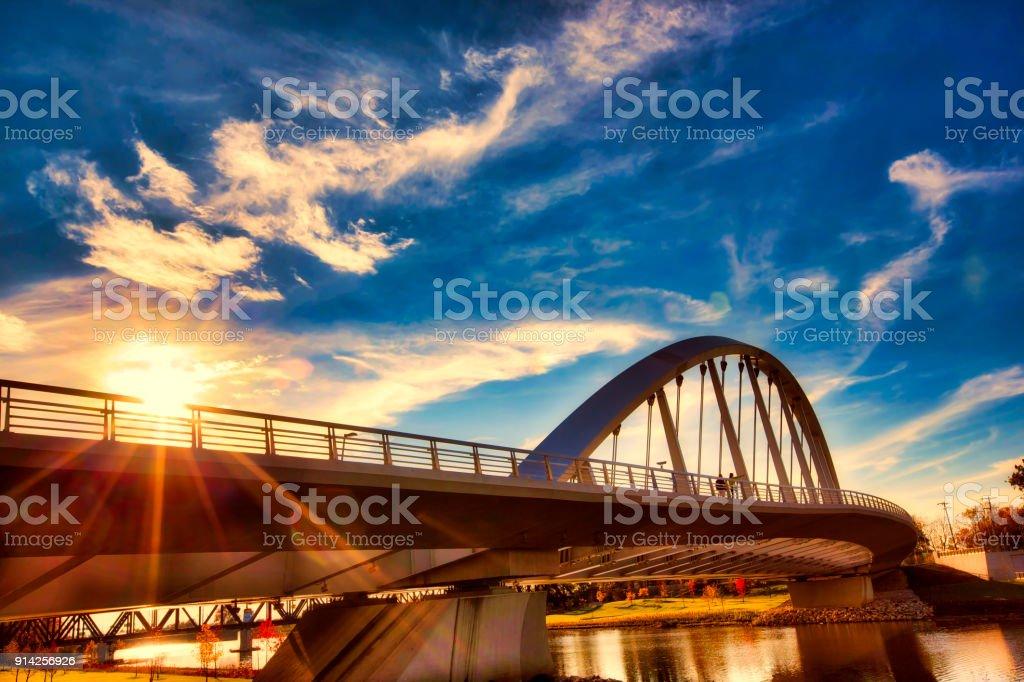 Columbus, Ohio sunset stock photo