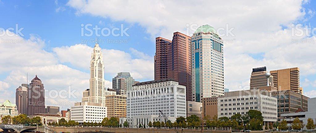 Columbus Ohio, USA downtown buildings stock photo