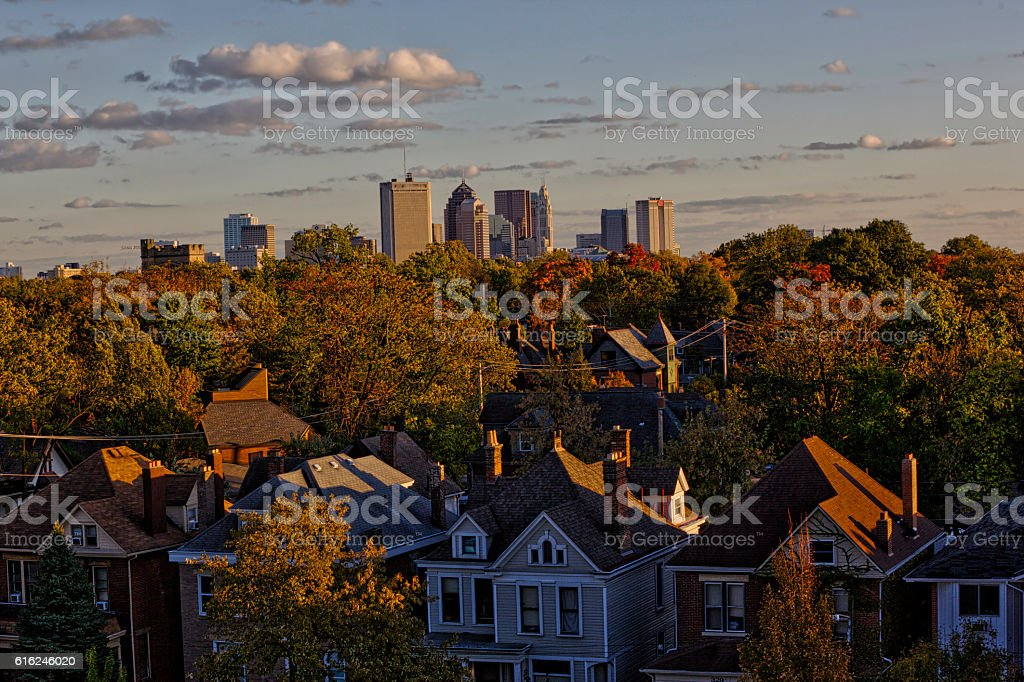Columbus on top stock photo
