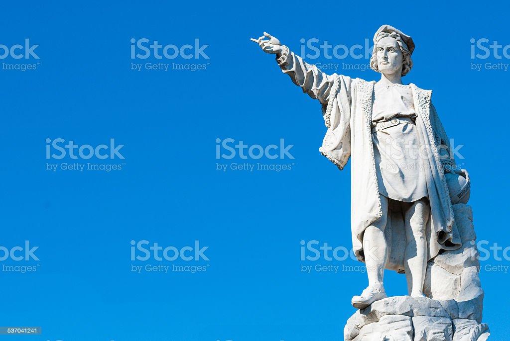 Columbus statue stock photo
