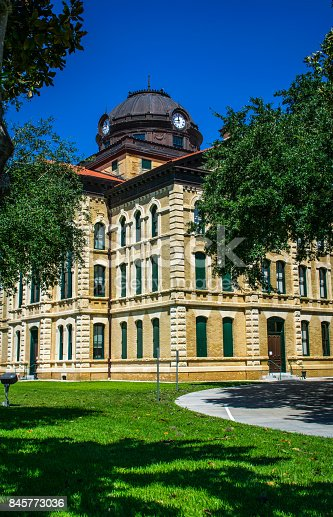 1024248138istockphoto Columbus Texas City County Courthouse the Town Square of the Historic small Town of Texas 845773036