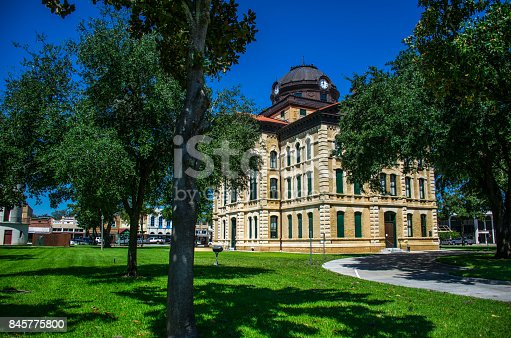 1024248138istockphoto Columbus Texas City County Courthouse the Town Square of the Historic small Town of Texas along the Colorado River South west of Houston 845775800