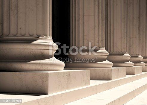 istock Column 3d rendering 1251191794