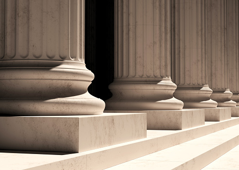 column, background, 3d rendering, government