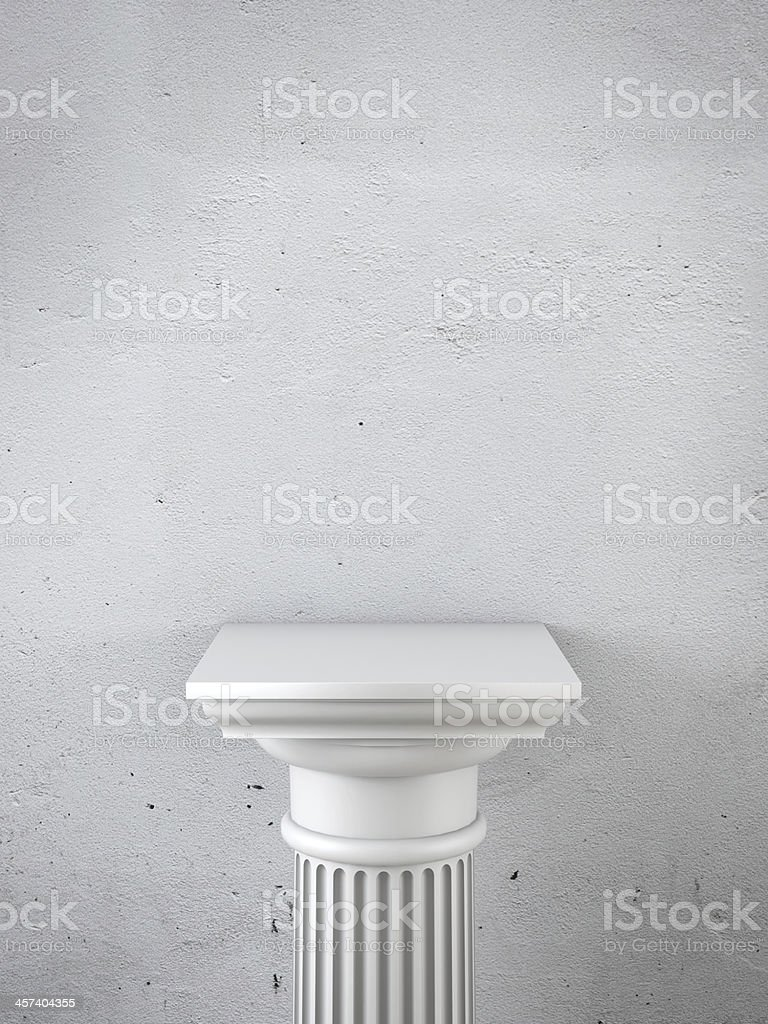 column as pedestal stock photo