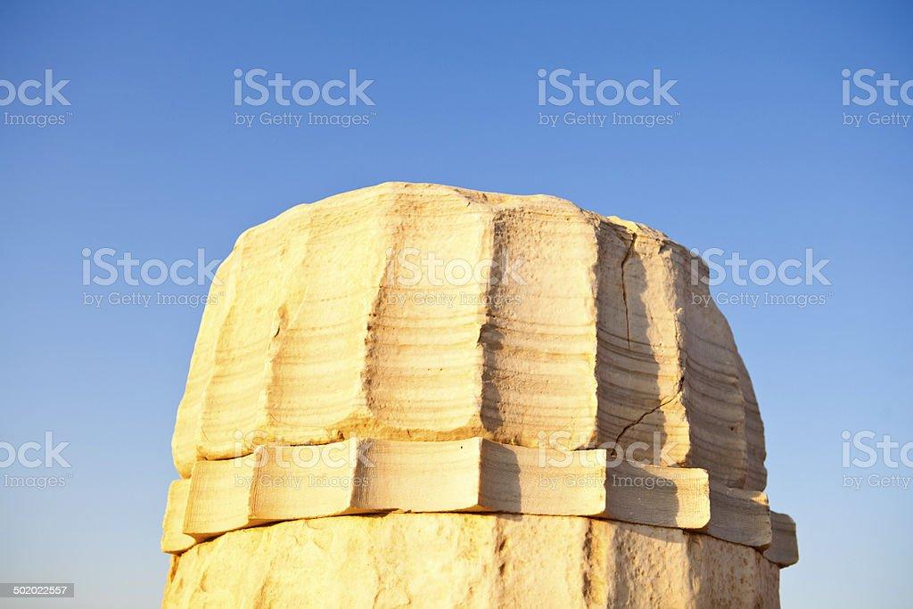 Column at sunset royalty-free stock photo