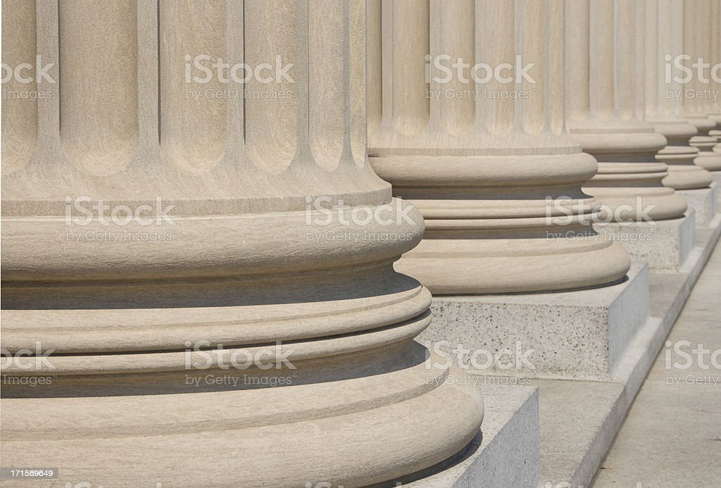 Column Bases and steps stock photo