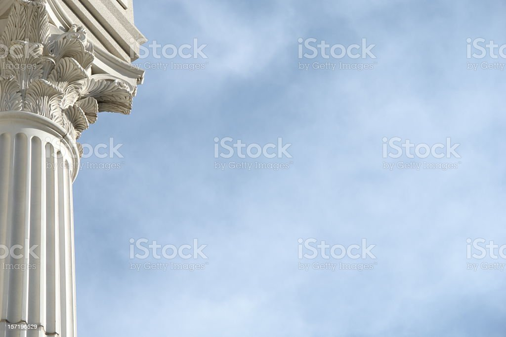 Column Blue Sky stock photo