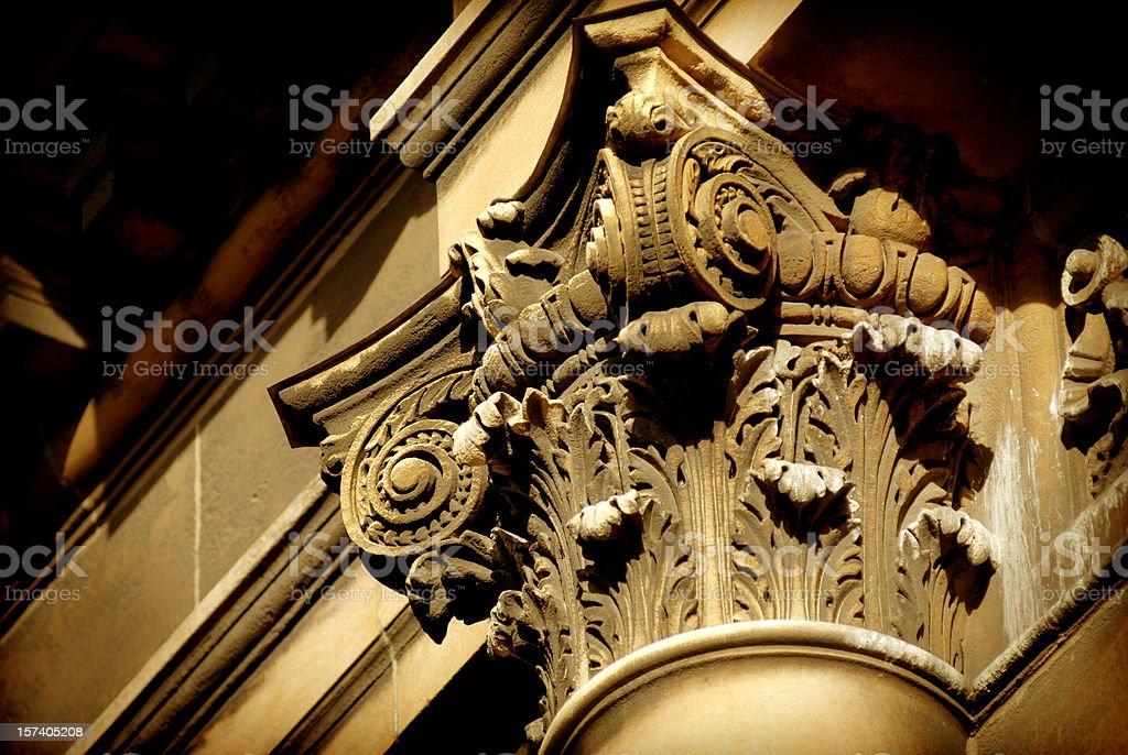 Column capital royalty-free stock photo