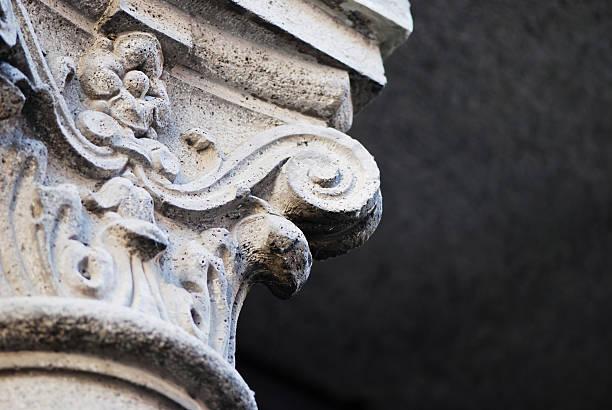 colonne capital - chapiteau colonne architecturale photos et images de collection
