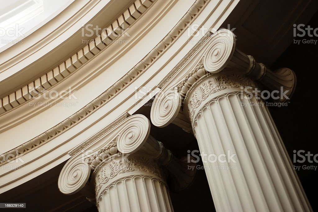 Column capital stock photo