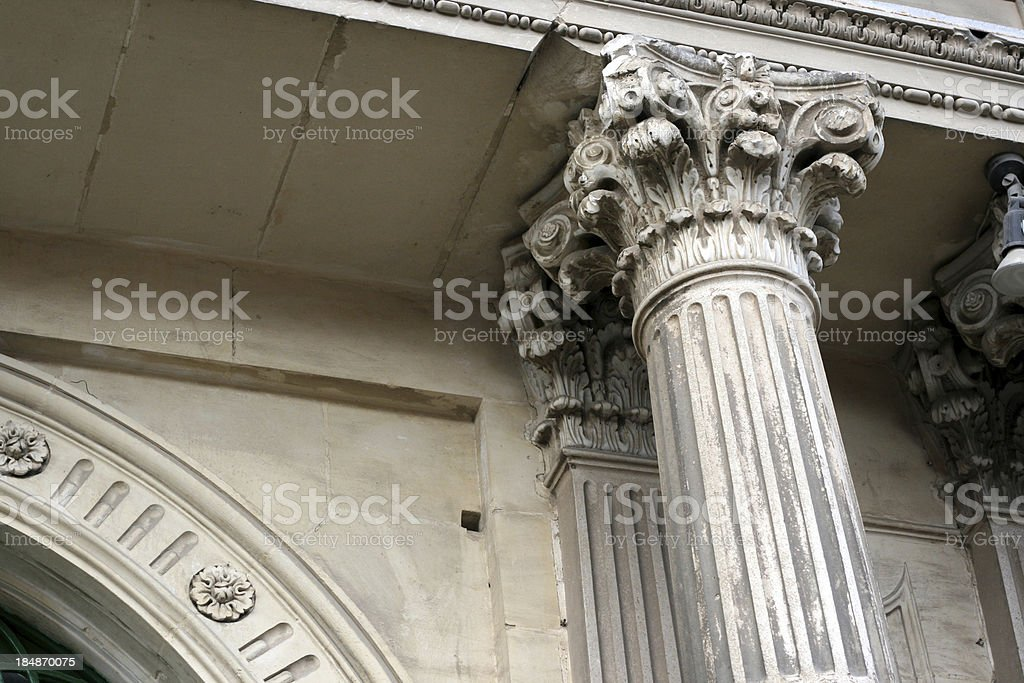 Column detail royalty-free stock photo