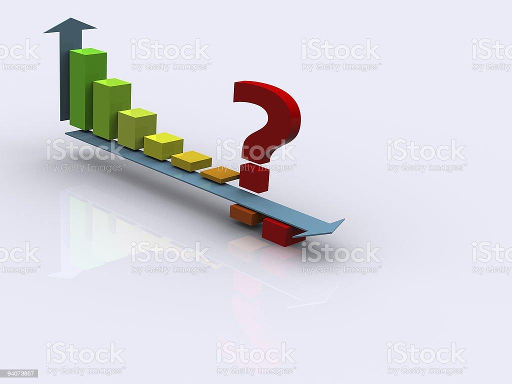 column graph 3d stock photo