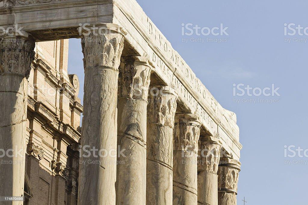 Column in Roman Forum, Rome royalty-free stock photo