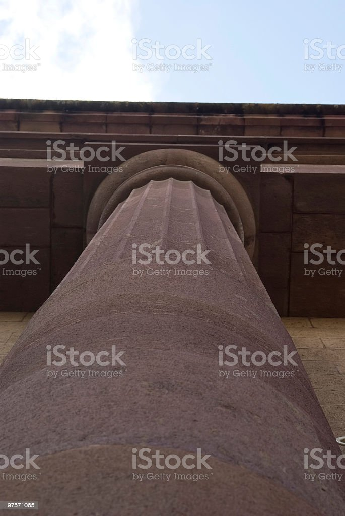 column in Sassari royalty-free stock photo