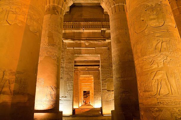 Säule in sobek Tempel, Luxor, Ägypten – Foto