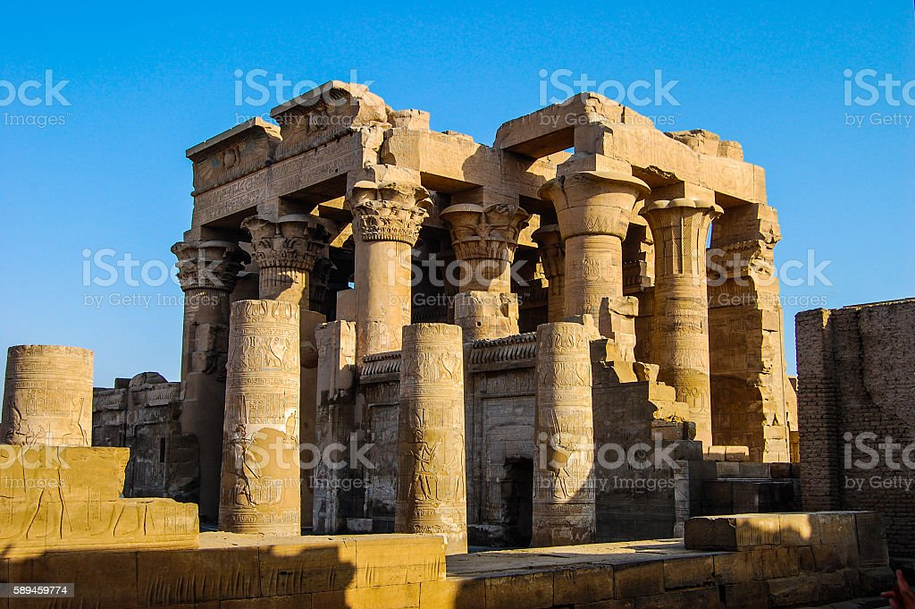 column in the ancient temples of Egypt stock photo