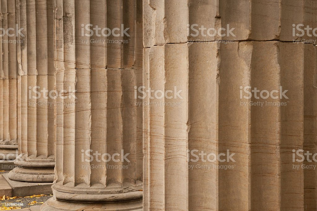 Column, Ionic, Architecture, Education, Courthouse, Colonnade royalty-free stock photo