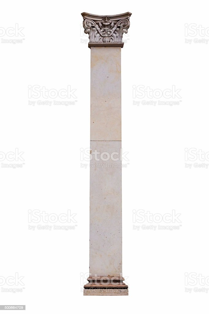Column isolated on a white background royalty-free stock photo