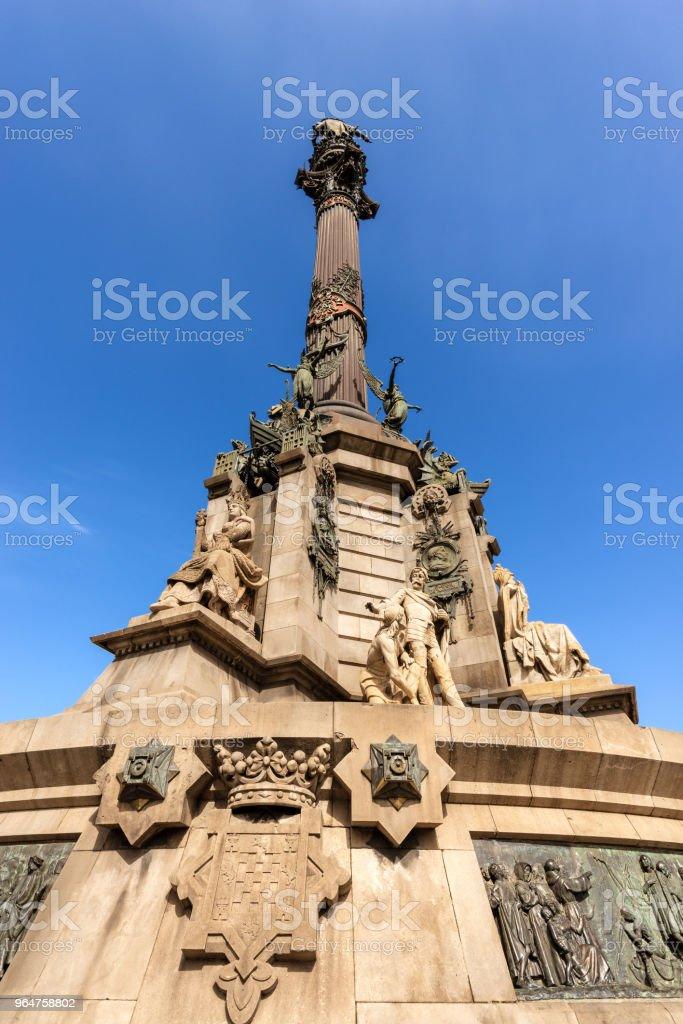 Column of Christopher Columbus - Barcelona Spain royalty-free stock photo