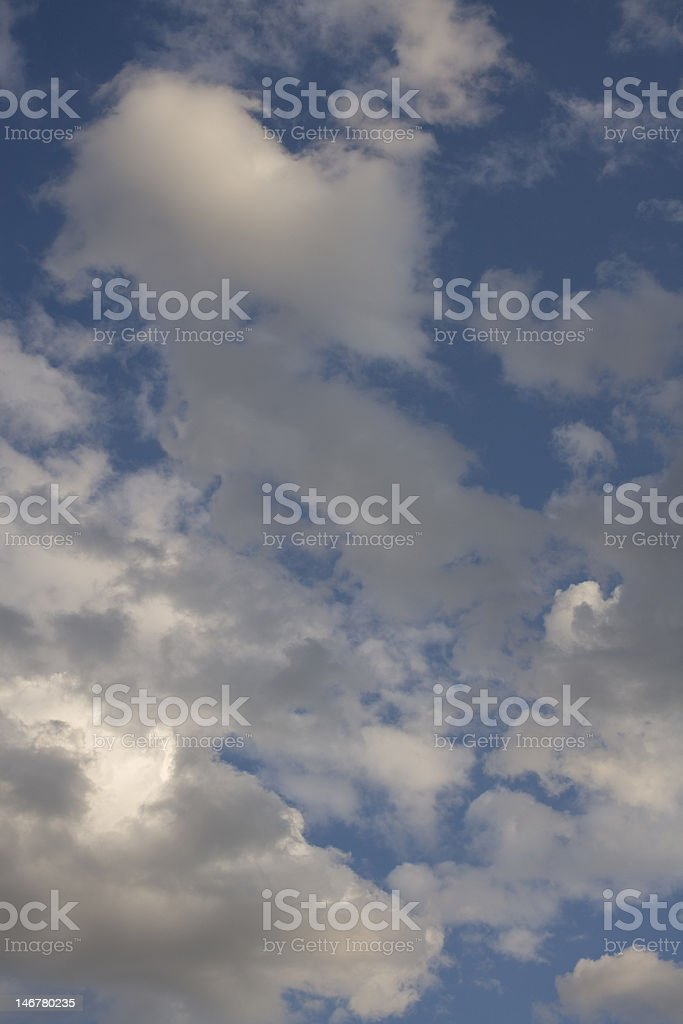 Column of Clouds at Twight stock photo
