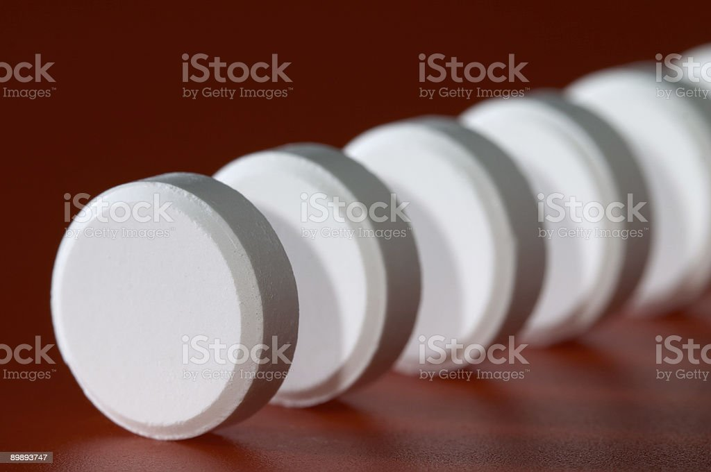 Column of tablet royalty-free stock photo