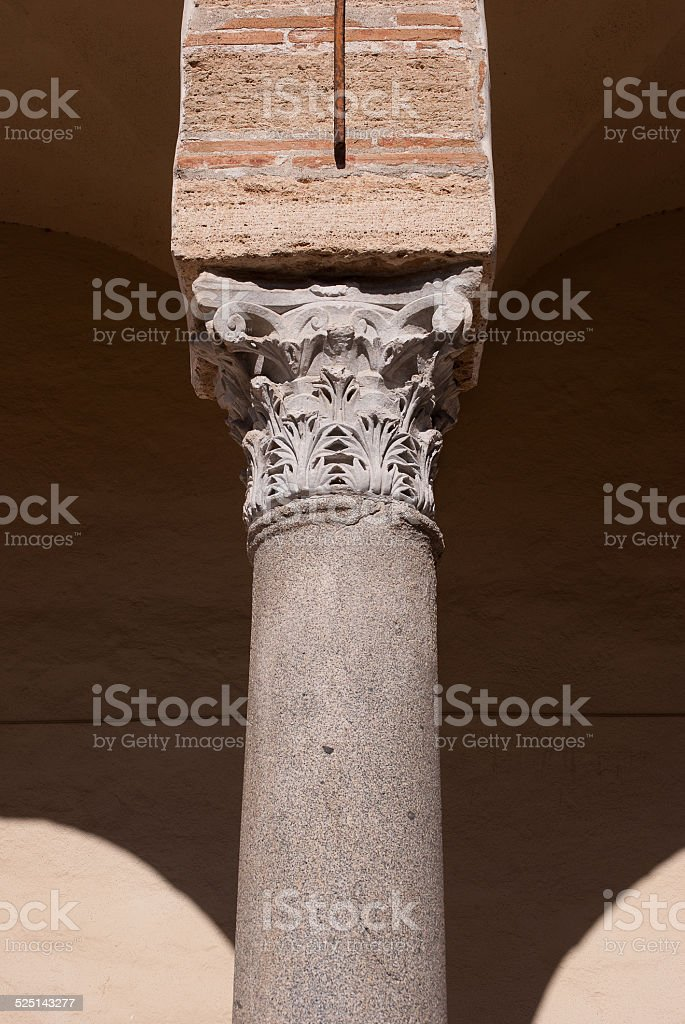 Column of the cathedral stock photo