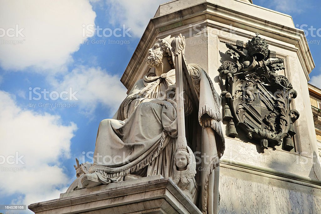 Column of the Immaculate David's statue detail royalty-free stock photo