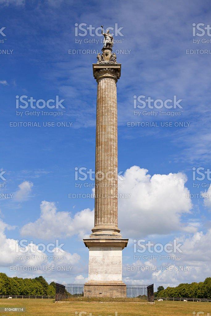 Column of Victory at Blenheim Palace, Woodstock, Oxfordshire, England, UK. stock photo