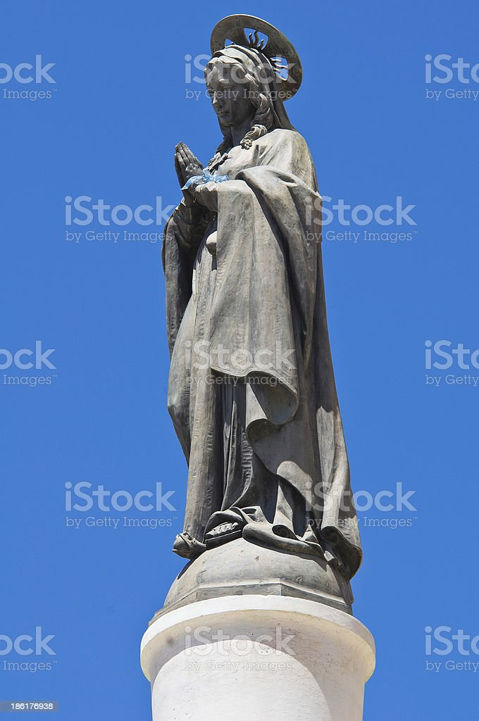 Column of Virgin. Brindisi. Puglia. Italy. royalty-free stock photo