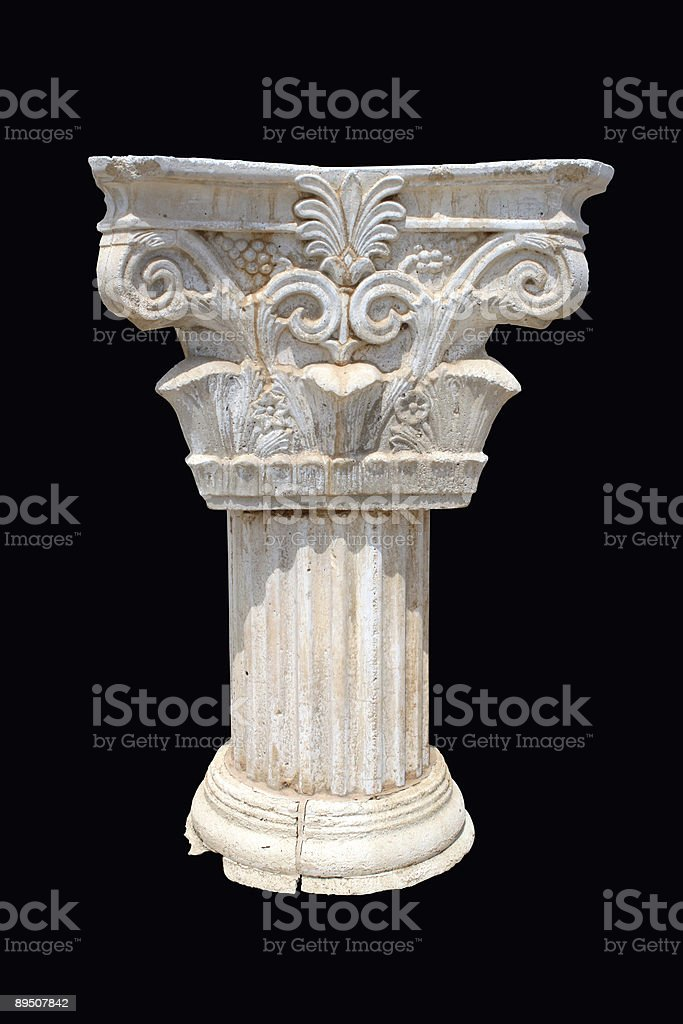 Column on dark background royalty-free stock photo
