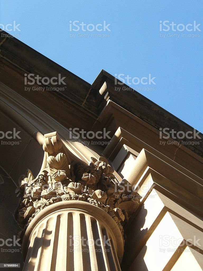 column on old building royalty free stockfoto