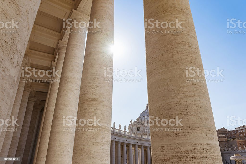 Column on st. peter's square royalty-free stock photo