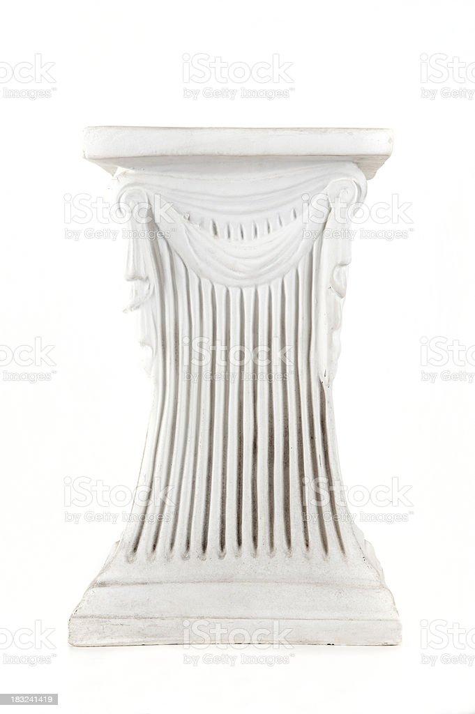 Column on white royalty-free stock photo