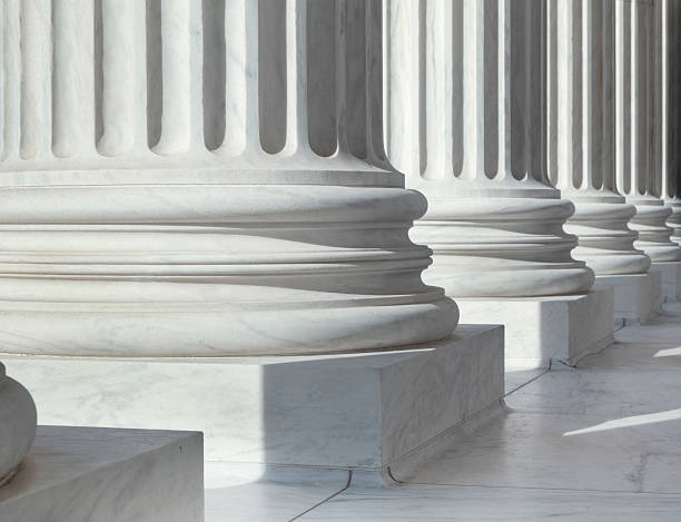 Column outside U.S. Supreme Court building stock photo